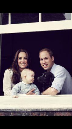 William, Catherine, George and Lupo.
