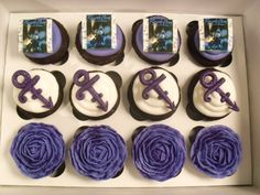 CupCakes Cookies Cakes: Happy Birthday, Prince, Purple Rain cake and cupcakes! Prince Cake, Prince Party, Prince Birthday Theme, 50th Birthday Party, Guitar Birthday Cakes, Guitar Cake, Rain Cake, Good Birthday Presents, Prince Purple Rain