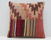 tapestry wall hanging pillow 16x16 DECOLIC european pillows patchwork throw pillows western pillows custom cushion 15461 kilim pillow 40x40