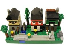 Microscale Medieval Street: A LEGO® creation by Casey McCoy : MOCpages.com