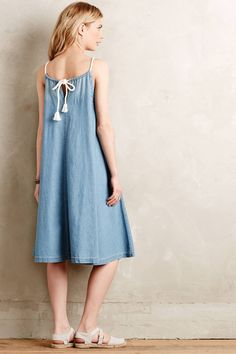 Chambray Swing Dress by Holding Horses #anthrofave #anthropologie
