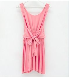 Aliexpress.com : Buy Summer Women Party Dress O Neck Sleeveless Backless with Side Zipper Sashes W0165 from Reliable Women Party Dress suppliers on SICIBAY - Kids' Clothing:Selling for Donating,$15.84