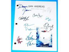 San Andreas Signed Script Dwayne Johnson, Carla Gugino, Ioan Gruffudd, Paul Giamatti and more
