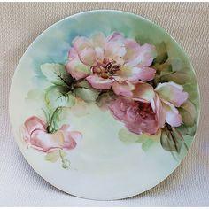 Translucent Porcelain Royalton China Co Painted Ceramic Plates, Hand Painted Ceramics, Art Floral, Chandelier Art, Porcelain Dolls For Sale, China Painting, Decoration, Craft, Goldfish Bowl