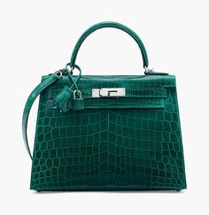 dae10130b66d The Hermes Birkin - Christies inaugural UK handbag sale - Hermès green  Niloticus crocodile Sellier Kelly 28 with palladium hardware