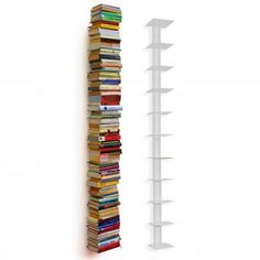 Tower of books.  LOVE!  Maybe a DIY?