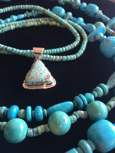 No Mother could have too much jewelry! Buy this turquoise blue necklace from Santa Fe Craftsman. http://santafecraftsman.com/