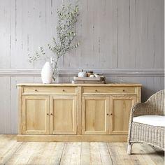 Solid oak sideboard W Atelier Cabinet Plate Rack, Buffet Cabinet, Side Board, Solid Oak Sideboard, Dining Room Server, Pine Furniture, Affordable Furniture, Home Living Room, Decoration