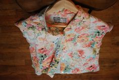 Vintage Floral Button Up Blouse by THESALTYFAWN on Etsy, $14.00