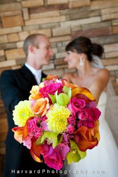these are the colors in my bouquets just different flowers.....LOVE how bright they are!!!