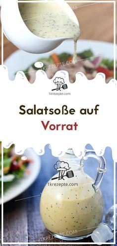 Salad dressing in stock - Thermomix - Salat Vinaigrette Dressing, Dressing Recipe, Detox Recipes, Salad Recipes, Pesto Dip, Herb Salad, Balsamic Vinegar, Edamame, Food And Drink