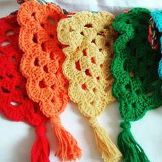 Crochet rainbow garland!!