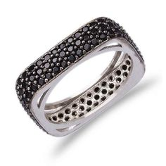 Silver Pave Band Ring