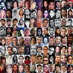 Les victimes des attentats du 13 novembre 2015 à Paris, en France.
