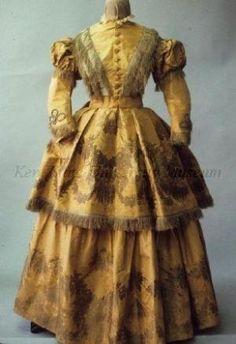 Walking dress, 1850's US, Kent State University Museum by sheryl