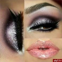 5 Color Eyeshadow palette glitter 5 Color Eyeshadow  Makeup Eye Shadow Palette Super Flash Diamond  Glitter Eyeshadow Colors: purple, pink, gold, black, and white. See pictures for details. Makeup Eyeshadow