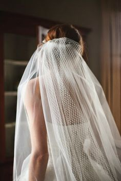 Russian netting and tulle veil