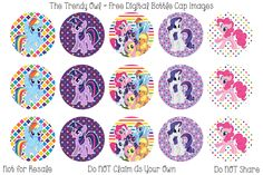 My Little Pony bottle cap image Cumple My Little Pony, My Little Pony Party, Bottle Cap Art, Bottle Cap Images, Free Bottlecap Images, Raimbow Dash, Bottle Top Crafts, Fairy Coloring Pages, Bottle Jewelry