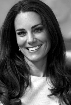"THE DUTCHESS OF CAMBRIDGE, CATHERINE, LOOKS JUST BEAUTIFUL IN THIS PICTURE……LET'S PUT HER UNDER ""BLACK & WHITE"", SO WE CAN LOCATE HER EASILY…………ccp"