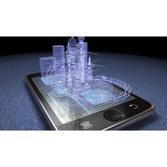 Hologram display technology could be coming to mobiles very soon ❤ liked on Polyvore