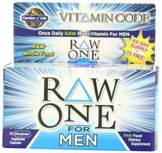 Garden of Life Vitamin Code Raw One for Men Nutritional Supplement, 75 Count - http://www.fitrippedandhealthy.com/garden-of-life-vitamin-code-raw-one-for-men-nutritional-supplement-75-count/  #Supplements #Fitness #Weightlosstips #DietTips