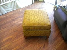 Chic Little House: Project Nursery: Vintage Ottoman Upholstery Finished!