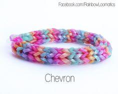 Chevron tutorial - Rainbow loom Follow us to http://rainbowloomsale.com