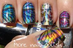 Holographic Butterfly Nails