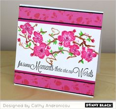 April Showers Bring May Flowers: Download complete supplies and instructions on our blog for this project featuring Penny Black Creative Dies and stamps
