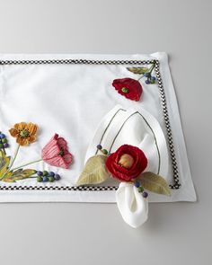 """MacKenzie-Childs """"Red Poppy"""" Table Linens - Horchow"""