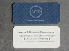 282 best d e s i g n business card images on pinterest post image for ackmann and dickensons letterpressed business card reheart Gallery