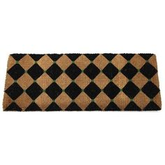 """Entryways Black Diamonds Extra Thick Hand Woven Coir Doormat, 18 by 47-Inch by Entryways. $75.66. This mat is hand stenciled with permanent fade-resistant dyes. 18 in x 47 in. Extra Thick. Hand made from all-natural coconut fiber which is an excellent dirt-trapper; 1 1/2"""" thickness. This beautifully designed hand-woven doormat will enhance your entry way or patio. It's made from the highest quality all natural coconut fiber."""
