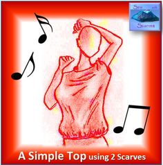"""Instructions on YouTube - """"Sew with Scarves: A Woman's, Simple Top using Two Scarves"""" The easiest of all! 2 scarves, 3 seams, one size fits all. Perfect for all levels of sewer. Short Scarves, Top Videos, Long Scarf, Fabric Art, Sewing, Simple, Youtube, Fun, Women"""
