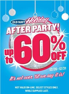 Old Navy party Sale