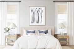 Printable Wall Art of Loose Watercolor Trees Abstract image 4