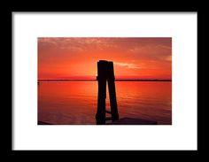 pier, silhouette, sunset, fort myers, florida, nature, caloosahatchee river, michiale schneider photography