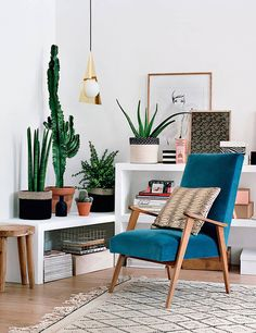 lindos cactus na decoração / beautiful cactus / plants at living room / S'entourer de belles plantes : les cactus - FrenchyFancy