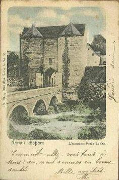 """Namur - Porte de Fer dans la nouvelle fermeté (XIVėme siècle) Namur (Belgium) : """"Iron Gate"""" in the new walls (14th century)"""
