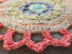 Jen's Pretty Pale #Crochet Mandala and Her Story of the Healing of Crochet