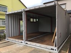 Shipping container garage home shop storage house and apartment prefab car carport cheap price designs g . Shipping Container Workshop, Shipping Container Storage, Shipping Container Buildings, Shipping Container Home Designs, Container Office, Container Shop, Container Cabin, Cargo Container, Container Architecture