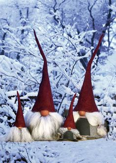 I am having a 'Rise of the Guardians' moment.  I have been gifted two Tomte..I will be safe this Winter - Thankyou