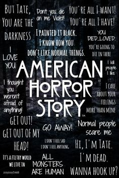 American Horror AHS Season 1 Murderhouse Murder House wallpaper iPhone iPad back Evan Peters, American Horror Story Quotes, American Horror Story Seasons, Ahs Season 1, Youre All I Want, Tate And Violet, Film Serie, Scary Movies, I Am Scared