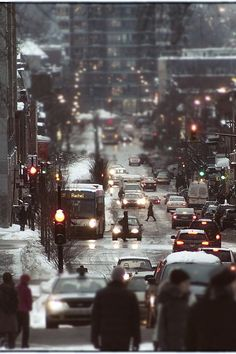 Winter streets, New York City