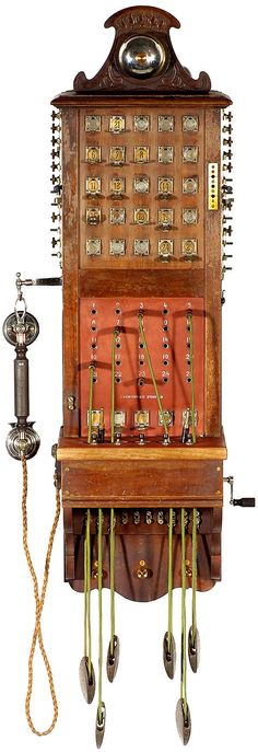 vintage tel: 1899 antique Ericsson wall telephone (€4000 via FineEstateLiquidation.com auction)