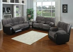 JAGGER_HXTY The Jagger living room collection certainly has the moves to impress guests, friends, and family alike. Plump armrests, seats, and backrest cushions are upholstered in a soft corduroy-like fabric and contrasted with a smooth black leatherette base. The sofa and loveseat includes dual manual reclining seats, and the loveseat features a storage console as well as convenient cup holders. Complete the collection with the matching manual reclining armchair!