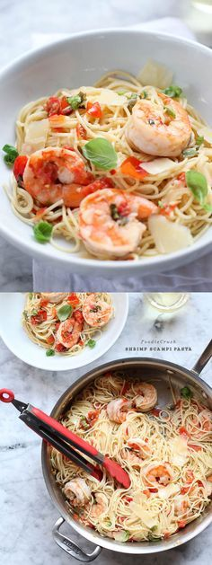 Shrimp Scampi Pasta is so easy to cook in a hurry | foodiecrush.com
