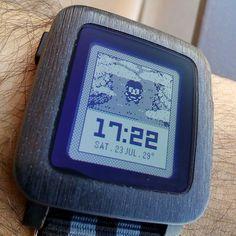 "El tiempo a lo #retro. ""Pixel Time"" #pebble #watchface http://ift.tt/2a4cdjG"