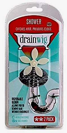DrainWig Shower Drain Hair Catcher 2 In A Pack Never Clean A Clogged Drain  New