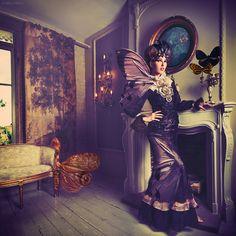 Miss Aniela: Surreal Fashion - Gallery  THE LEPIDOPTERIST (2013)  Shot in London, fused with butterflies shot in Museum d'Histoire Naturelle, Paris.  Model: Natalia Doktor / Stylist: Minna Attala / Dress: Busardi / Collar: Della Reed / Silk neck ruff: National Theatre / Headpiece: Clea Broad / Hair: Tati Zarubova / Make-up: Monica Storrs / Stylist's assistant: Becky Smith / Photographer's assistants: Ian Mears & Tim Matthews.