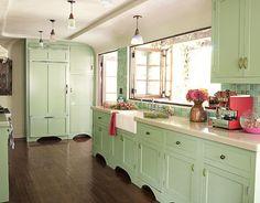 Scegli il colore verde-menta in cucina4